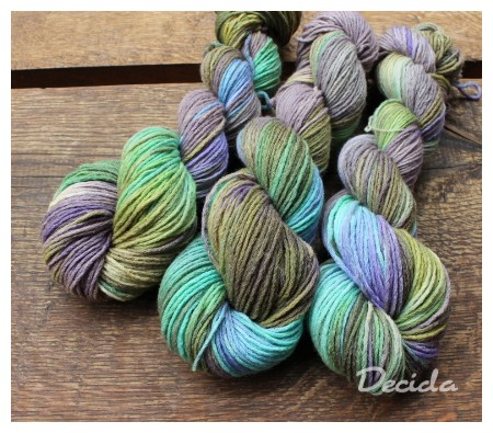 """Mystic forest""  MERINO se sw (4mm)"