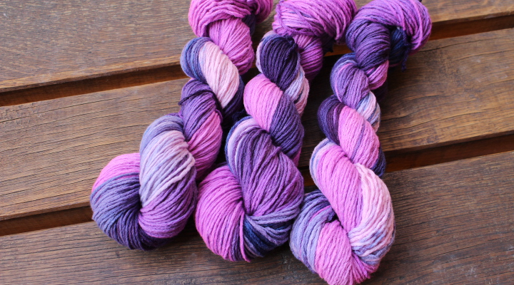 """Purple dream""  MERINO bez sw 4mm"