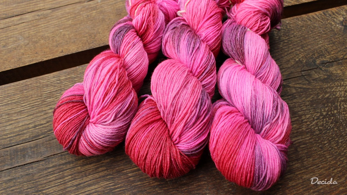 """Sweet rose"" Merino/bambus sw 3mm"