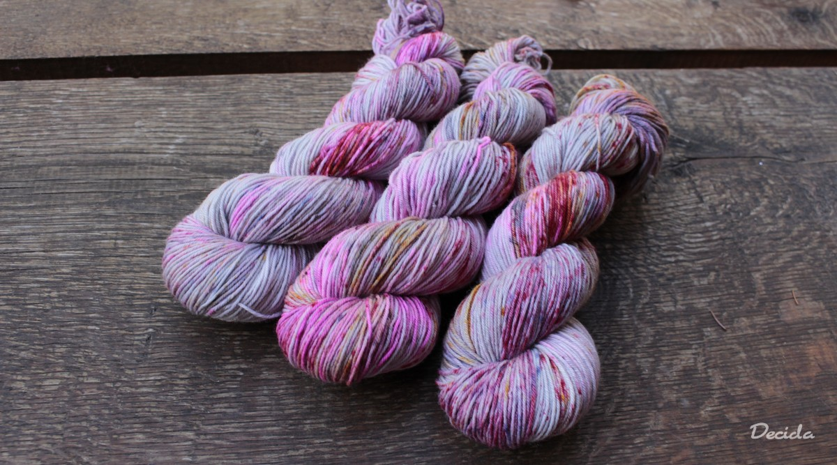 """Pink galaxy"" extra MERINO Twist 3,5mm"