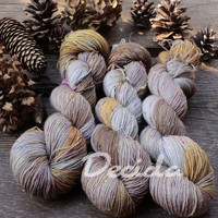 """Amber"" - merino a Donegal neps"