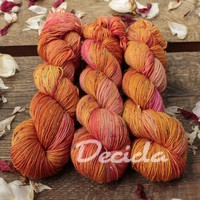 """Orange"" - merino a Donegal neps"