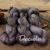 """Dark Burgundy"" merino/hedvábí 2mm"