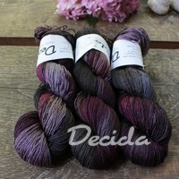 """Dark dream""  Merino/hedvábí 3mm"
