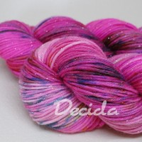 """Power pink"" - merino SILVER 210m"