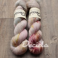 """Smooth moments - Vermilion Mauve"" merino/hedvábí 2mm"