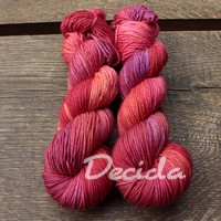 """Crimson love"" Merino/hedvábí 4mm"