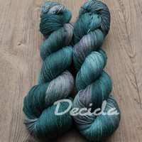 """Blue Rock-oil""  Merino/hedvábí 3mm"