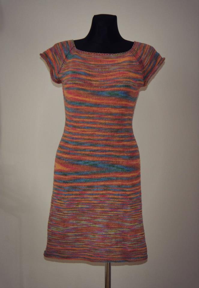 81896162b148 Návod na pletené šaty KLARBA